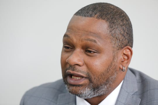 """Alphonso Simmons, 51, a reformed convict, talks about the impact that passing the Westchester County's """"Ban the Box"""" law will have on employers asking about past criminal convictions for prospective job applicants on Dec. 11, 2018.  Simmons believes that it will give convicted criminals a fair chance at employment who are qualified."""