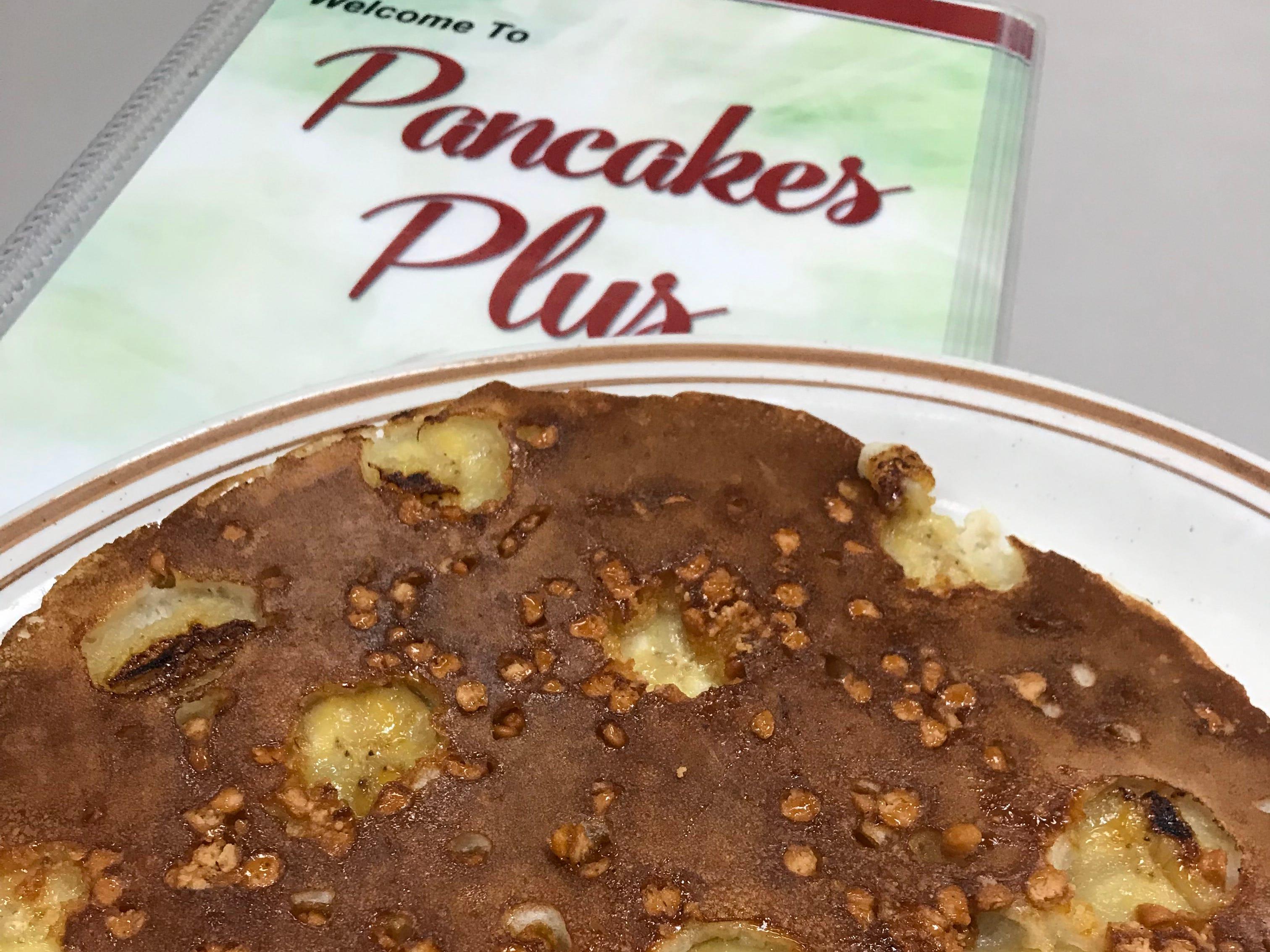 The banana butterscotch pancake at Pancakes Plus in Nanuet. Photographed Nov. 30, 2018.