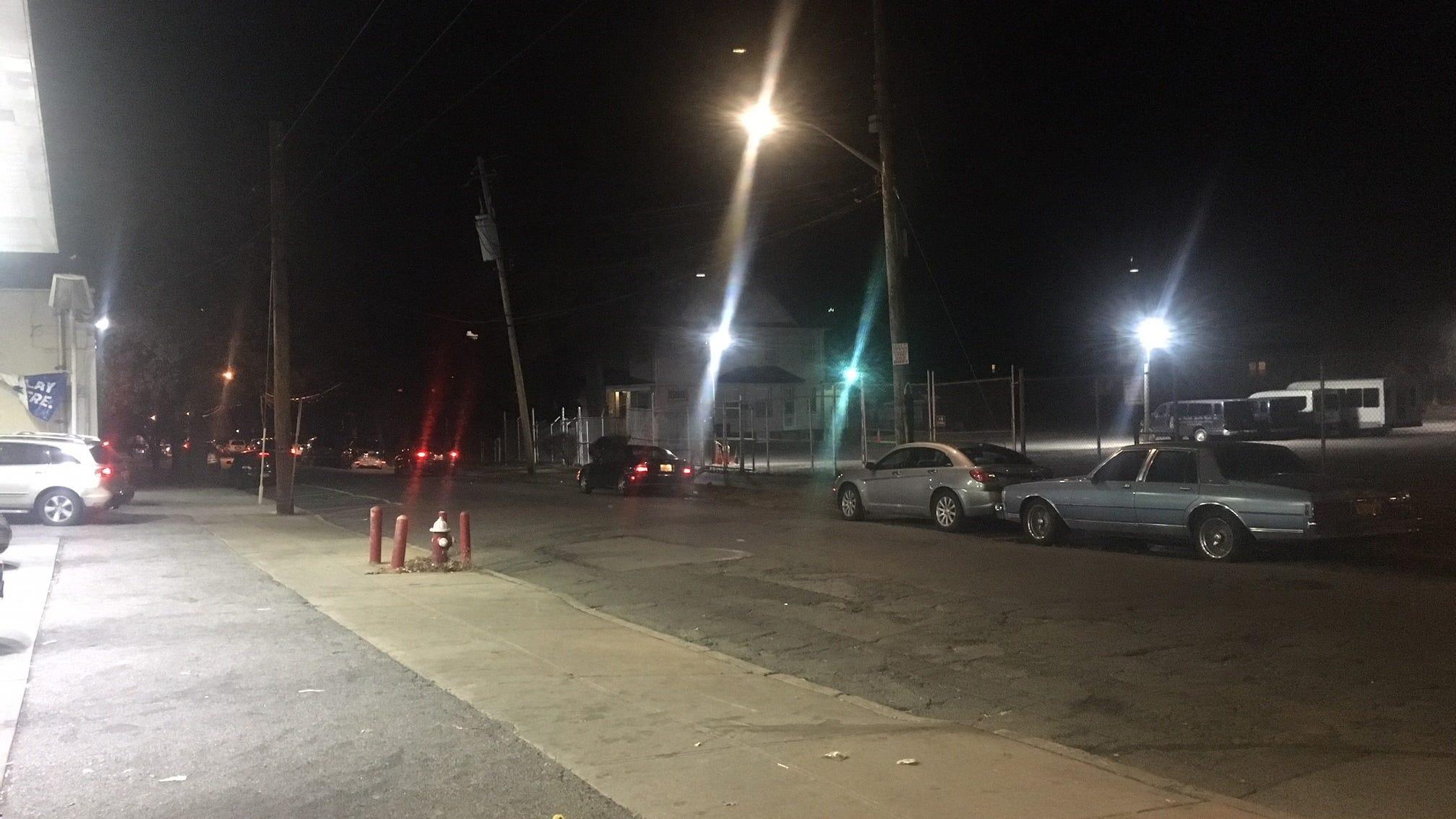 Area of Franklin Avenue near Third Street where a...