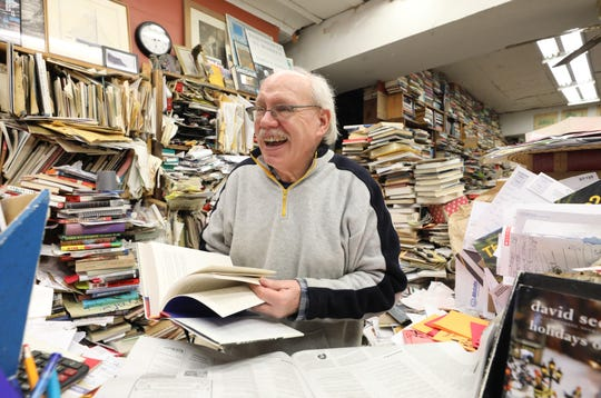 John Dunnigan, owner of Pickwick Book Shop in Nyack. The store will participate in the village's sidewalk sale on April 27.