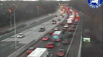 Southbound traffic is slow on Interstate 95 in...