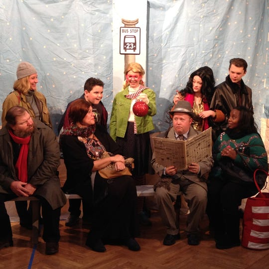 """""""Last Stop Til Christmas"""" is one of the two one-act plays that will be performed at 7:30 p.m. tonight; 2:30 p.m. Sunday Dec. 16; and 7:30 p.m. Monday Dec. 17 at the Kemp Center for the Arts."""