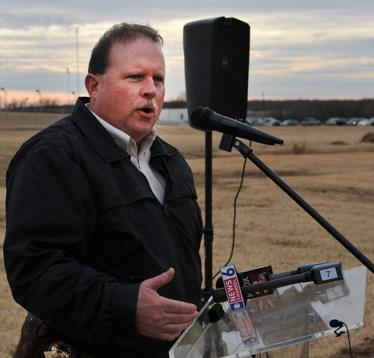 Wichita County Sheriff, David Duke spoke during a groundbreaking ceremony for the law enforcement Tuesday afternoon.