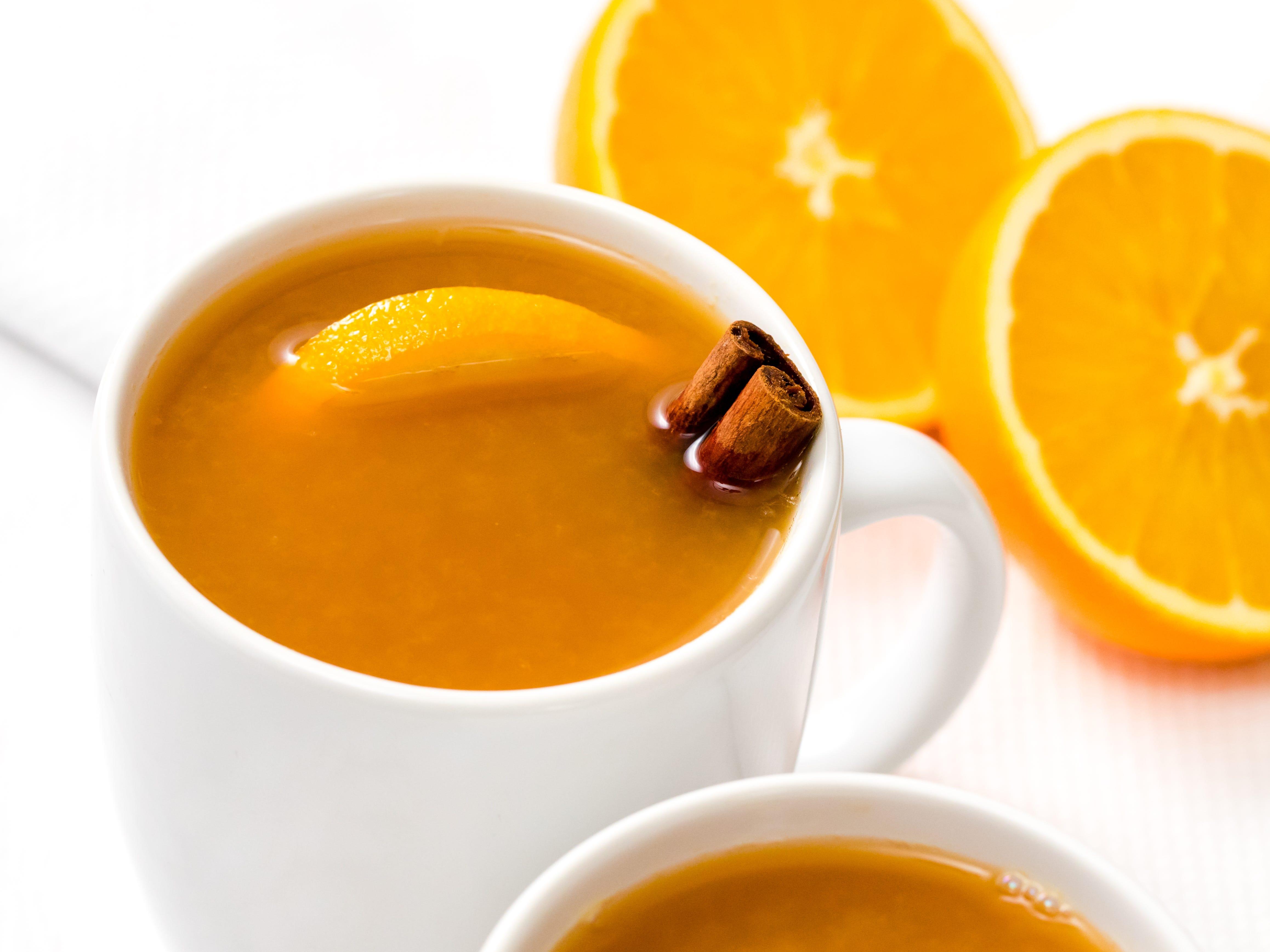 Holiday orange wassail punch