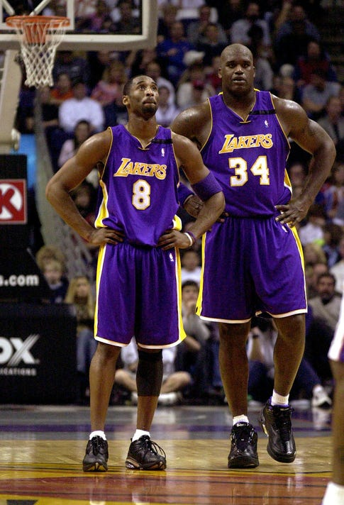 765ae0732 Lakers  Shaq says his old team would  easily beat  Warriors