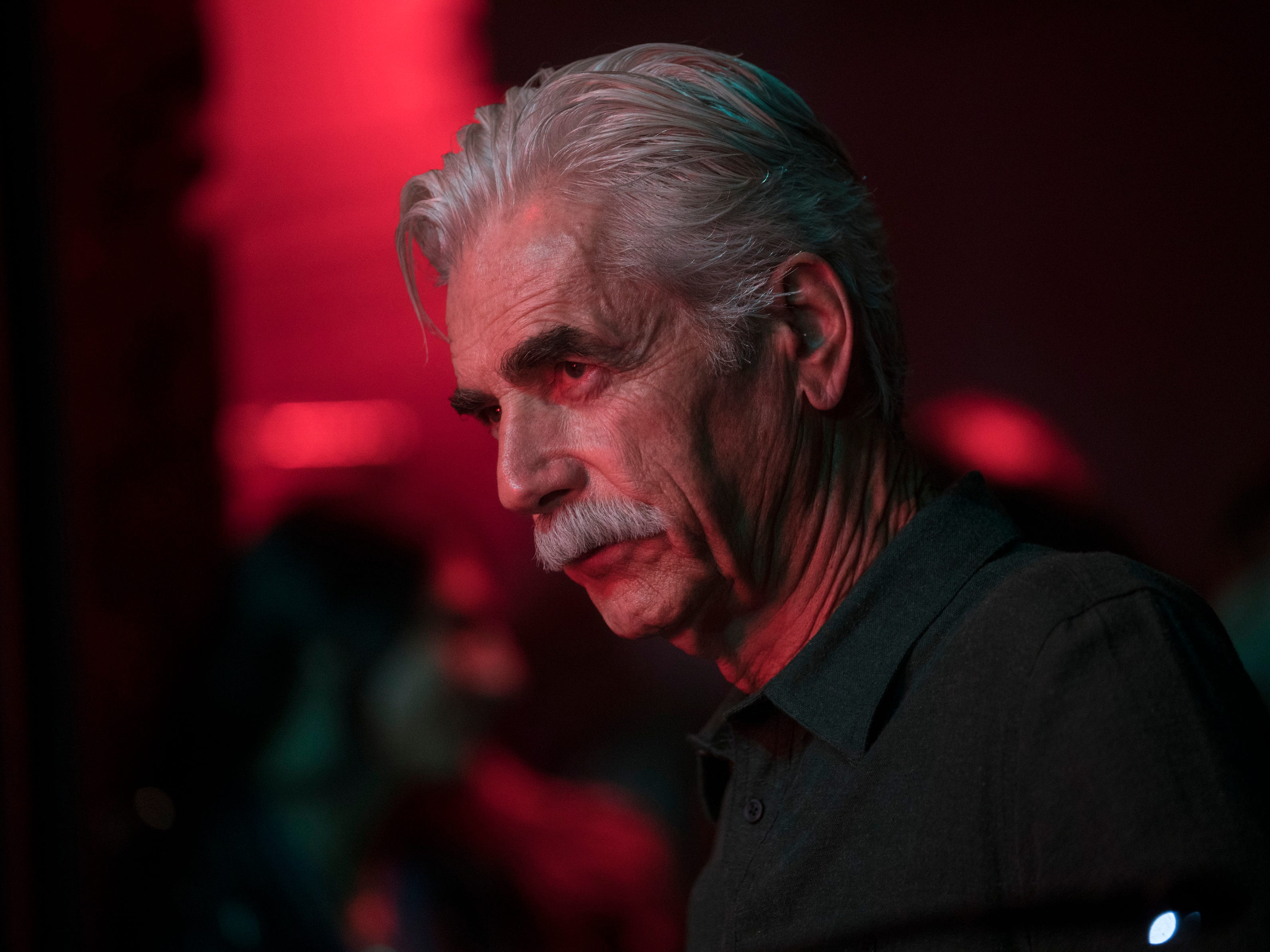 "This image released by Warner Bros. shows Sam Elliott in a scene from the latest reboot of the film, ""A Star is Born."" The veteran character actor delivered a powerful performance as Jackson Maine's brother in ""A Star Is Born,"" which many still think will earn the 74-year-old his first ever Oscar nomination. But he was not nominated for a Golden Globe. (Clay Enos/Warner Bros. via AP) ORG XMIT: NYET422"