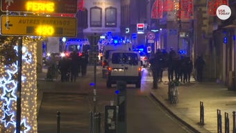 Police say at least three people were killed after a gunman opened fired at a Christmas market in Strasbourg, France.