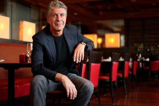 Anthony Bourdain, celebrity chef, photographed in the Ritz Carlton West End Bar in Washington D.C. on May 22, 2010.