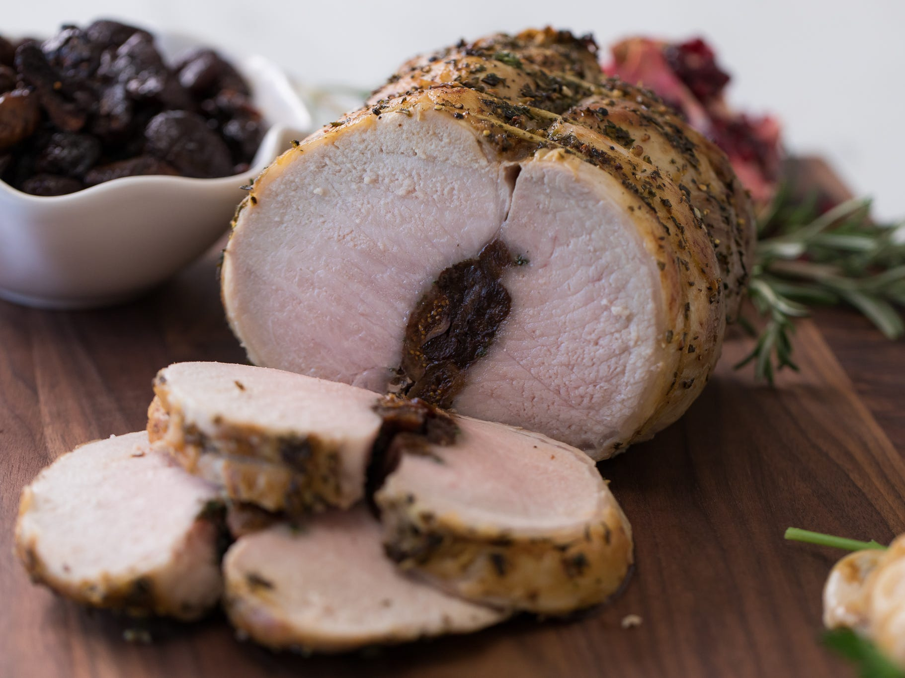 Roast pork tenderloin with dried fruits