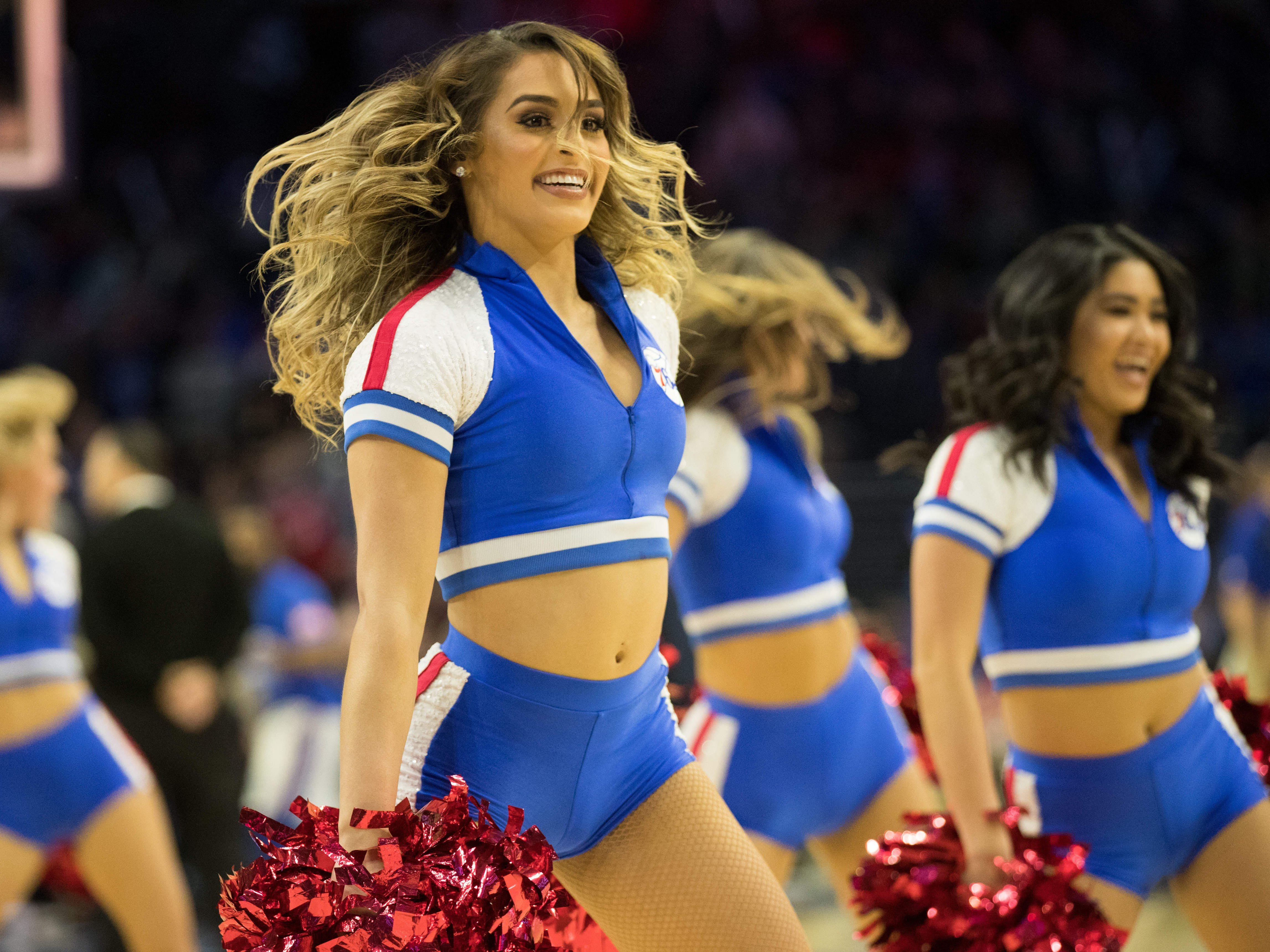 Dec. 10: 76ers dancers perform during the fourth quarter of a game against the Pistons.
