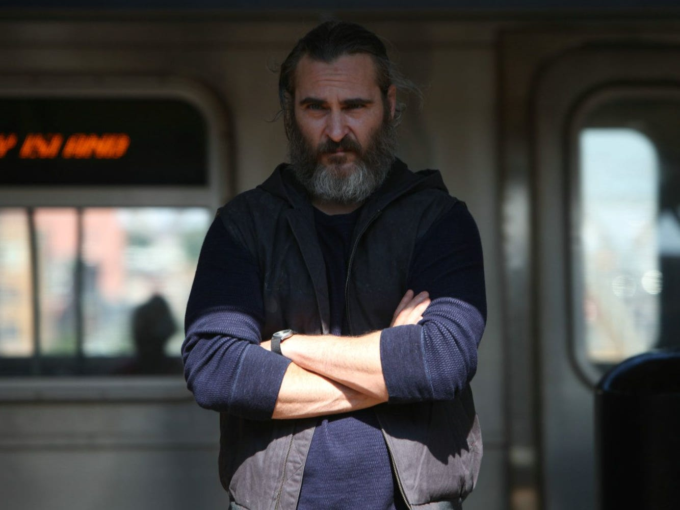 "Joaquin Phoenix stars in the motion picture  ""You Were Never Really Here."""
