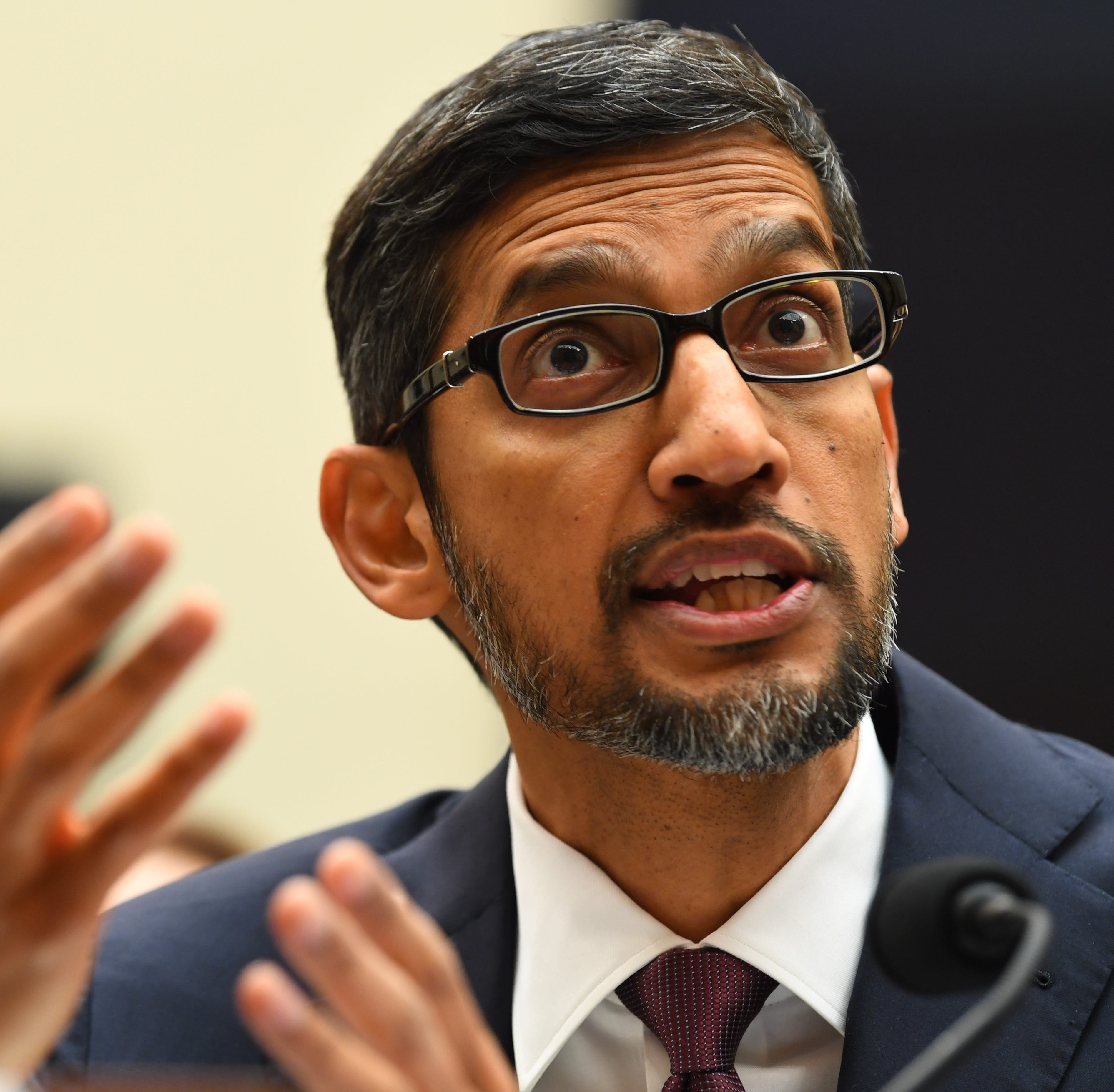 Google CEO Sundar Pichai testifies before the House Judiciary Committee, Tuesday, Dec. 11, 2018, in Washington.