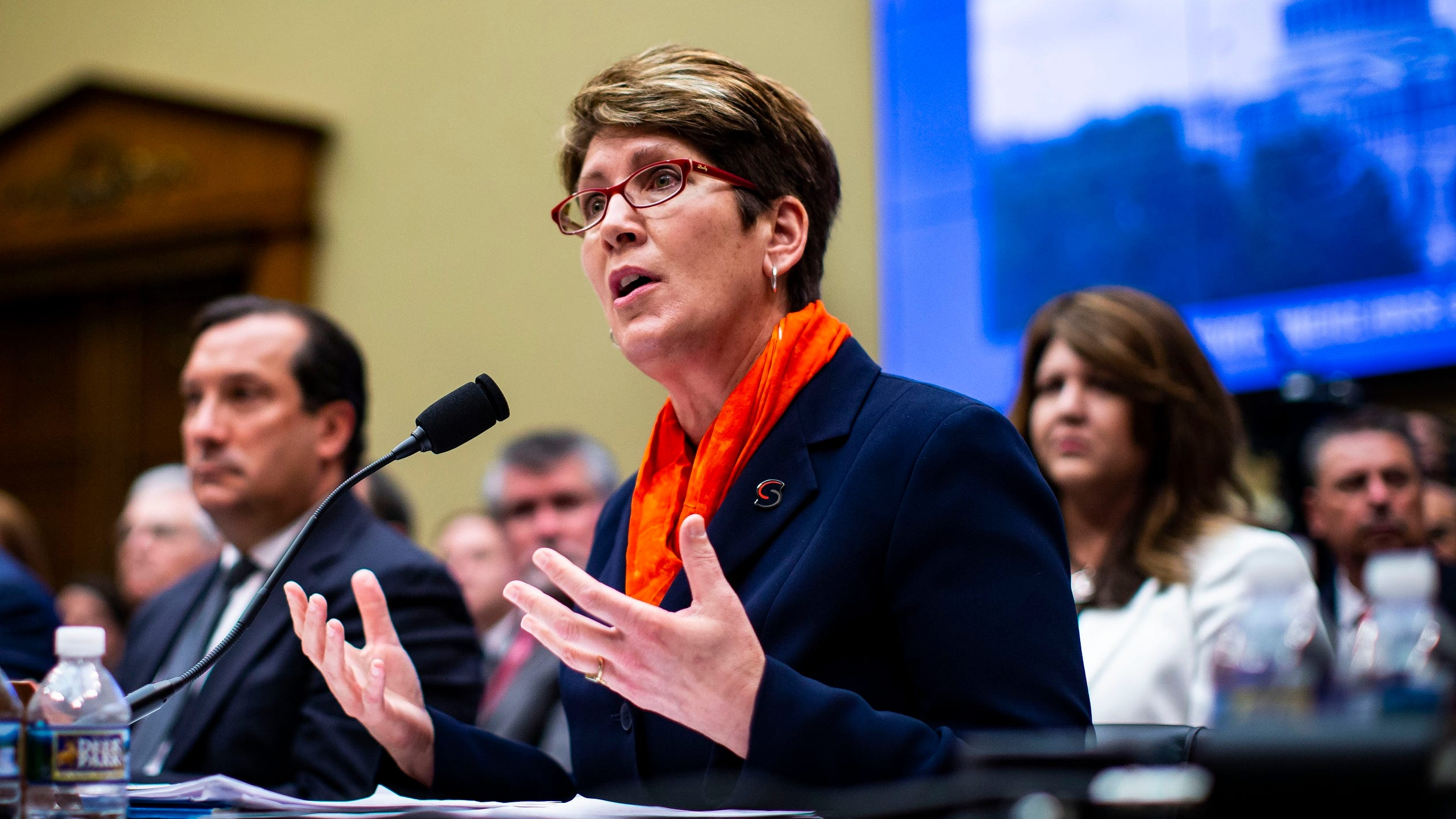 Shellie Pfohl, president and CEO of the U.S. Center for SafeSport, before Congress in May 2018.