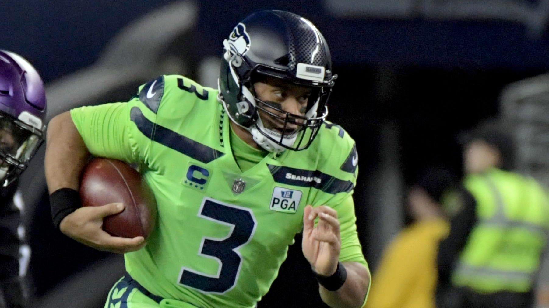 Seahawks QB Russell Wilson provided a winning, if inconsistent, effort Monday night.