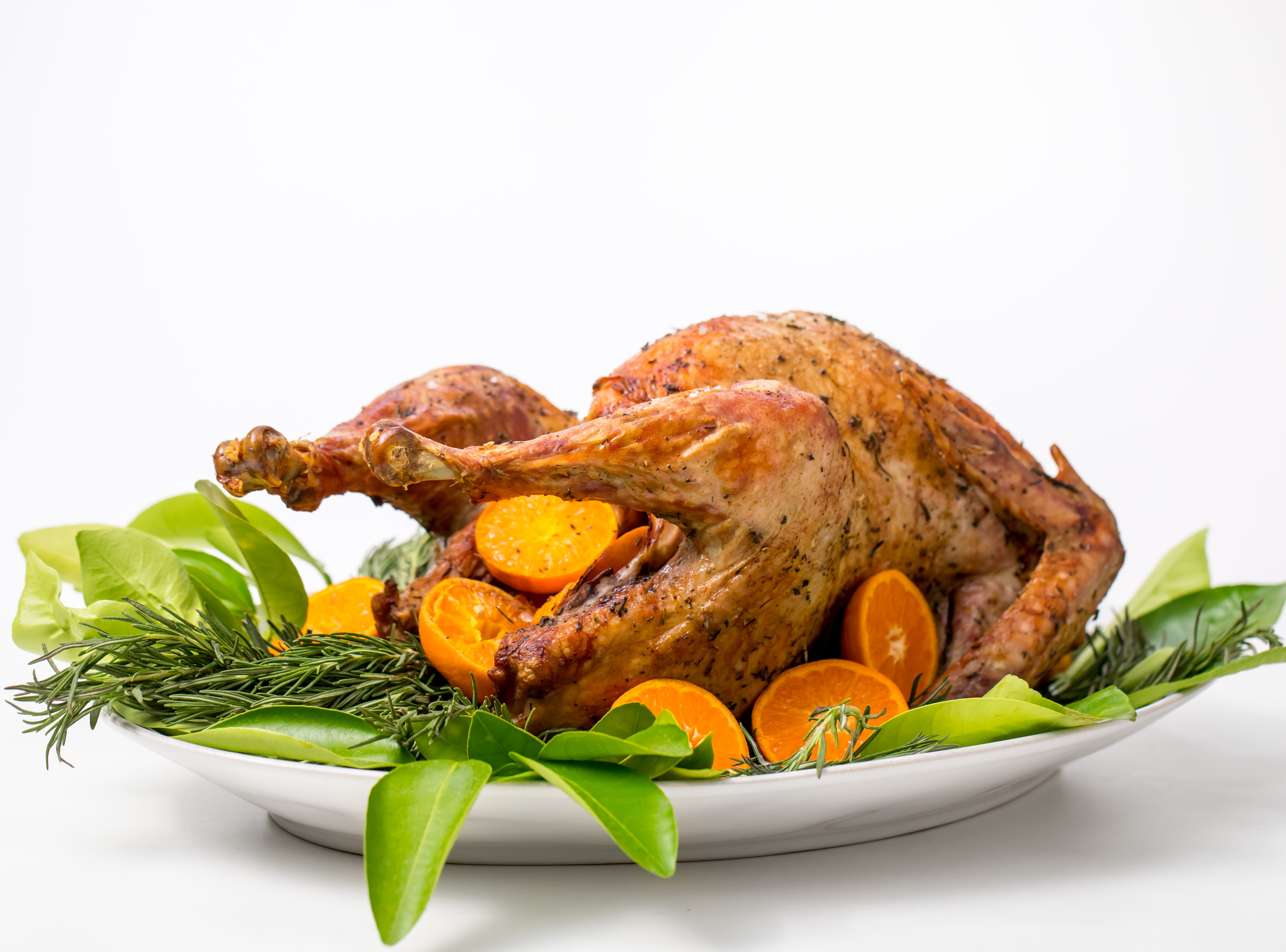 grilled turkey with rosemary butter