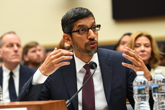 Google CEO Sundar Pichai testifies before the House Judiciary Committee, Tuesday, Dec. 11, 2018, in Washington. (Via OlyDrop)