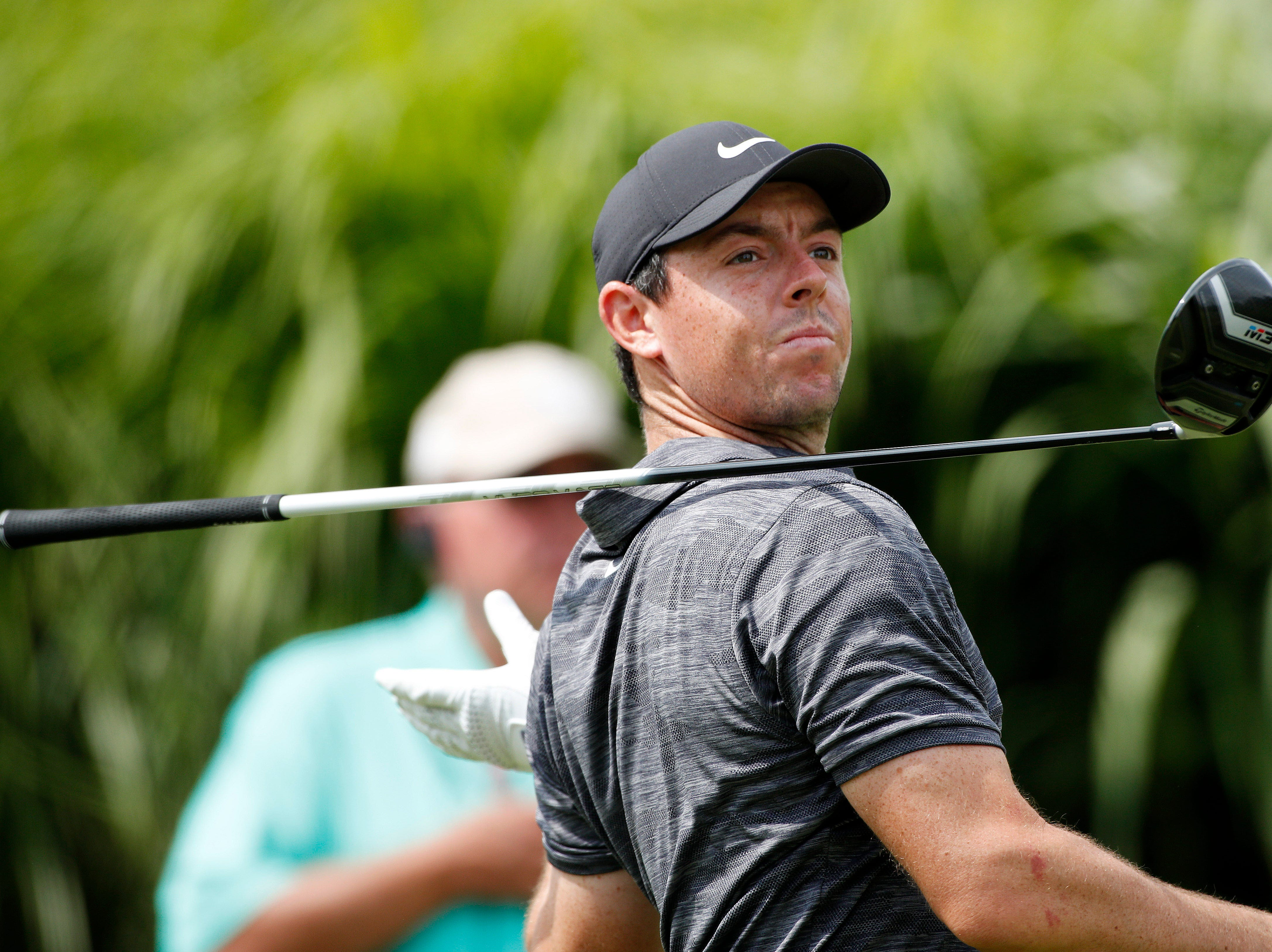 Aug. 2: Rory McIlroy drives off the 16th hole during the first round of the WGC - Bridgestone Invitational golf tournament at Firestone Country Club - South Course.