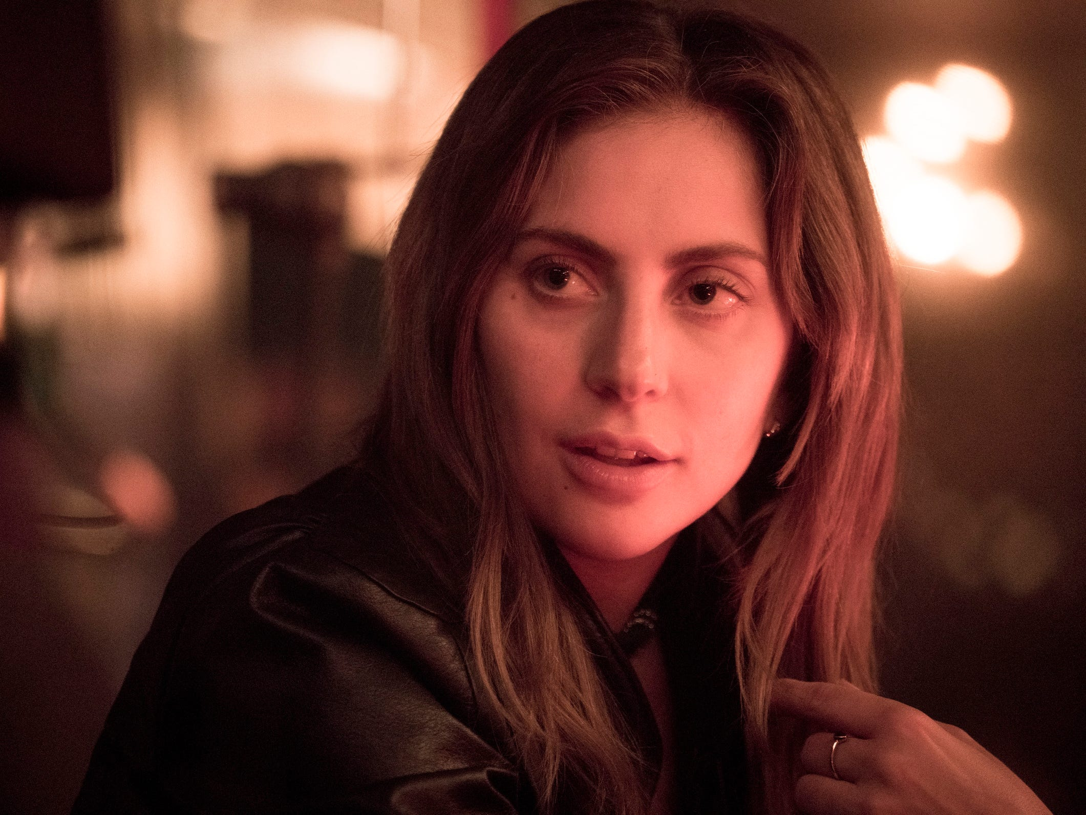 "This image released by Warner Bros. shows Lady Gaga in a scene from the latest reboot of the film, ""A Star is Born."" On Thursday, Dec. 6, 2018, Lady Gaga was nominated for a Golden Globe award for lead actress in a motion picture drama for her role in the film. The 76th Golden Globe Awards will be held on Sunday, Jan. 6.  (Clay Enos/Warner Bros. via AP) ORG XMIT: NYET824"
