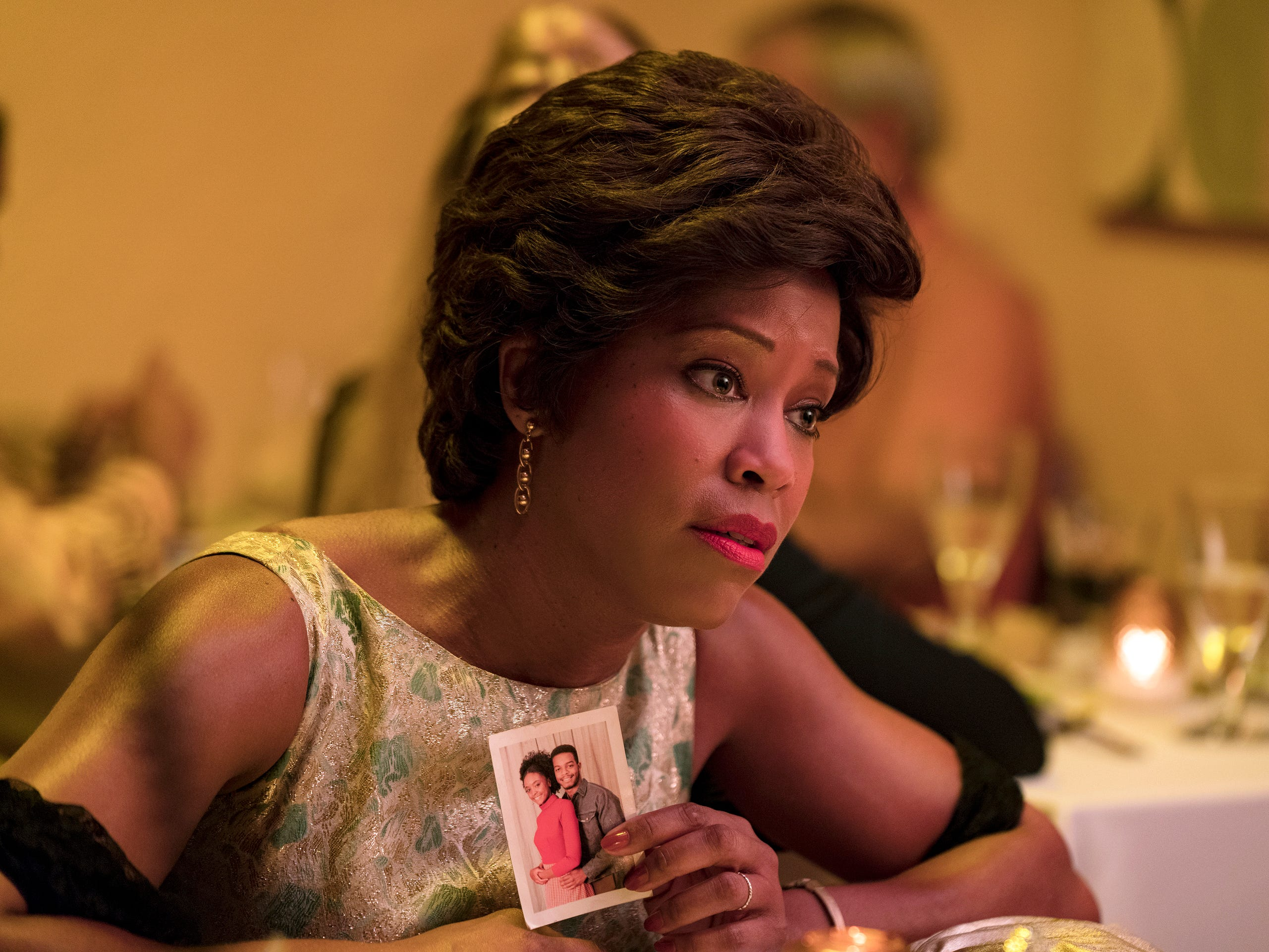 "This image released by Annapurna Pictures shows Regina King in a scene from ""If Beale Street Could Talk."" On Thursday, Dec. 6, 2018, King was nominated for a Golden Globe award for supporting actress in a motion picture for her role in the film. The 76th Golden Globe Awards will be held on Sunday, Jan. 6. (Tatum Mangus/Annapurna Pictures via AP) ORG XMIT: NYET847"