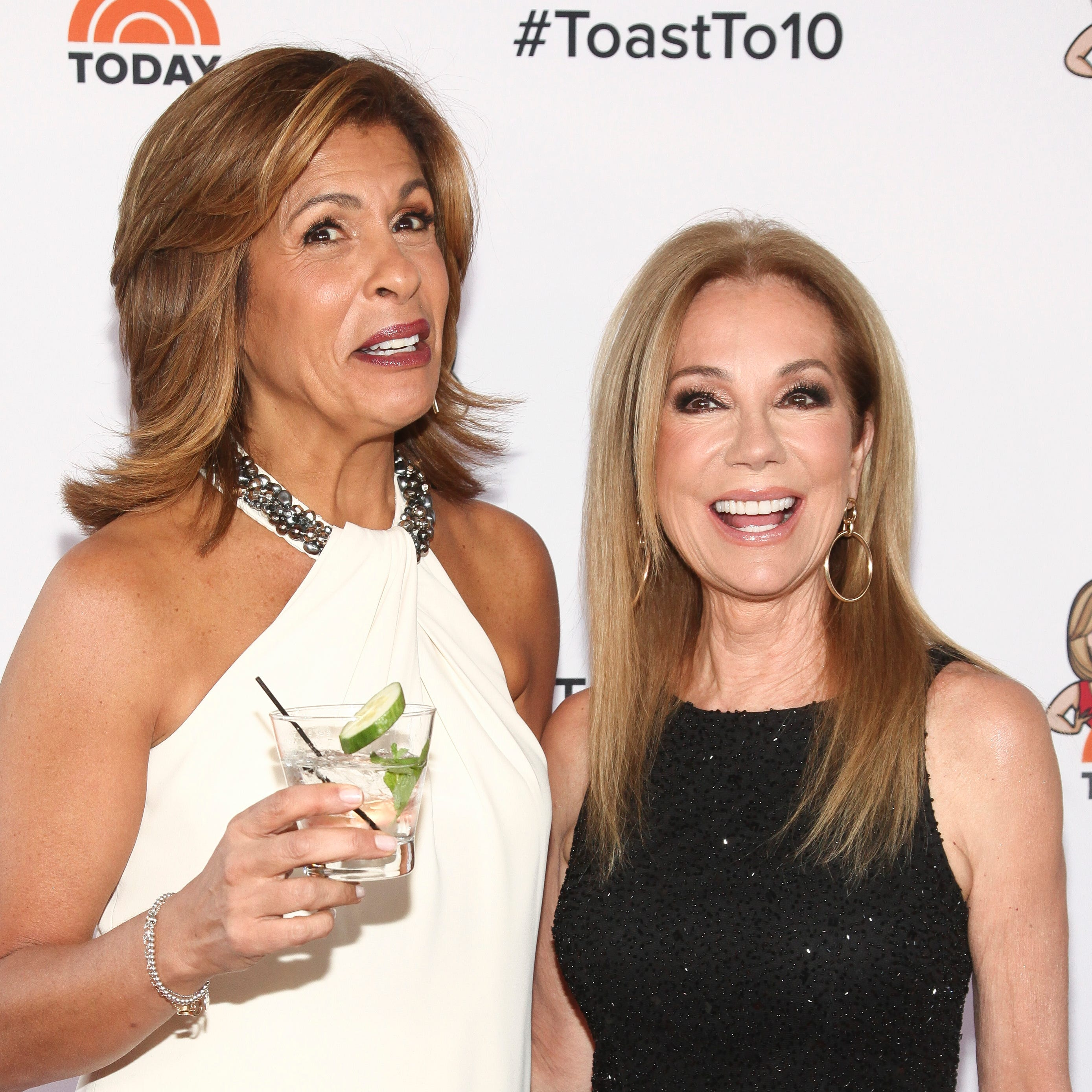 "Hoda Kotb, left, and Kathie Lee Gifford, attend the ""Kathie Lee & Hoda"" tenth anniversary party at the Rainbow Room in New York in April. Gifford is set to depart ""Today"" next year."