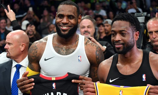 a08321176 Usp Nba Miami Heat At Los Angeles Lakers S Bkn Lal Mia Usa Ca. Heat guard Dwyane  Wade ...
