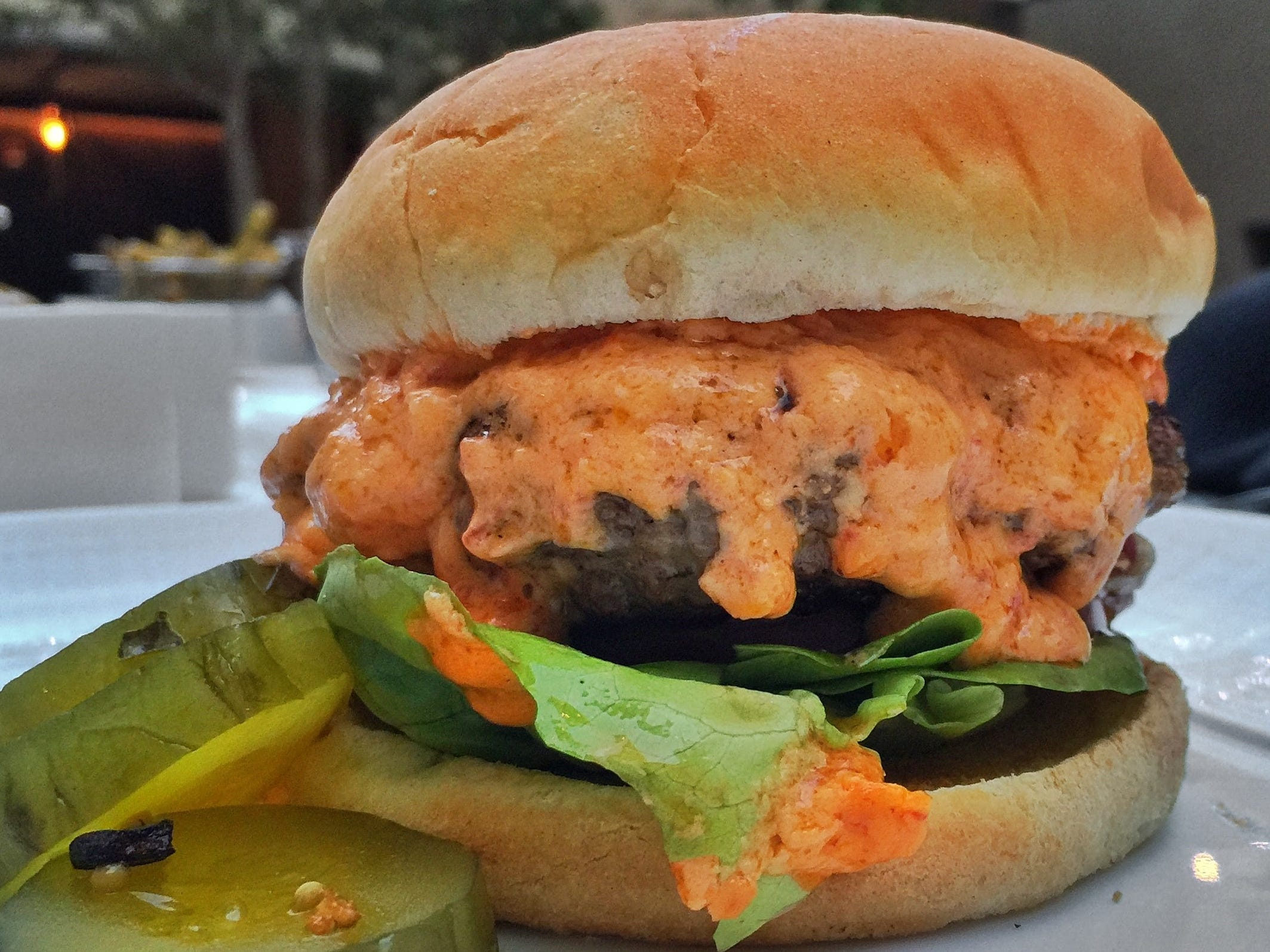 The Pimento Cheese Burger at Knife Burger was rated the best burger in Dallas by Texas Monthly magazine.