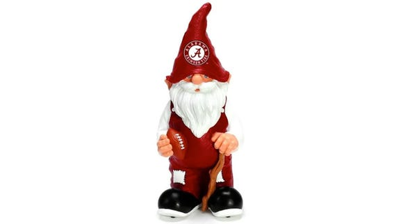 The sports-themed lawn gnome can come in different shapes and sizes while sporting an outfit of your favorite team.