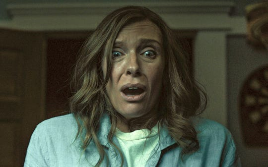 "Toni Collette plays a mother haunted by family secrets in ""Hereditary."""