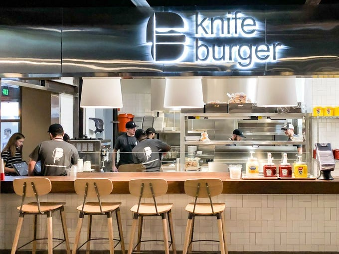 The first Knife Burger opened a year ago in the Legacy Hall food market in Dallas.