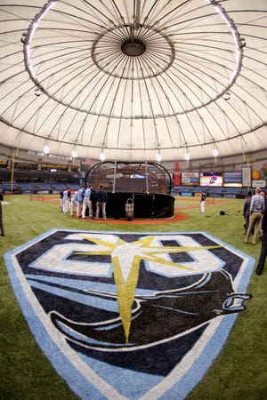 Tropicana Field, home of the Tampa Bay Rays in St. Petersburg, Fla.