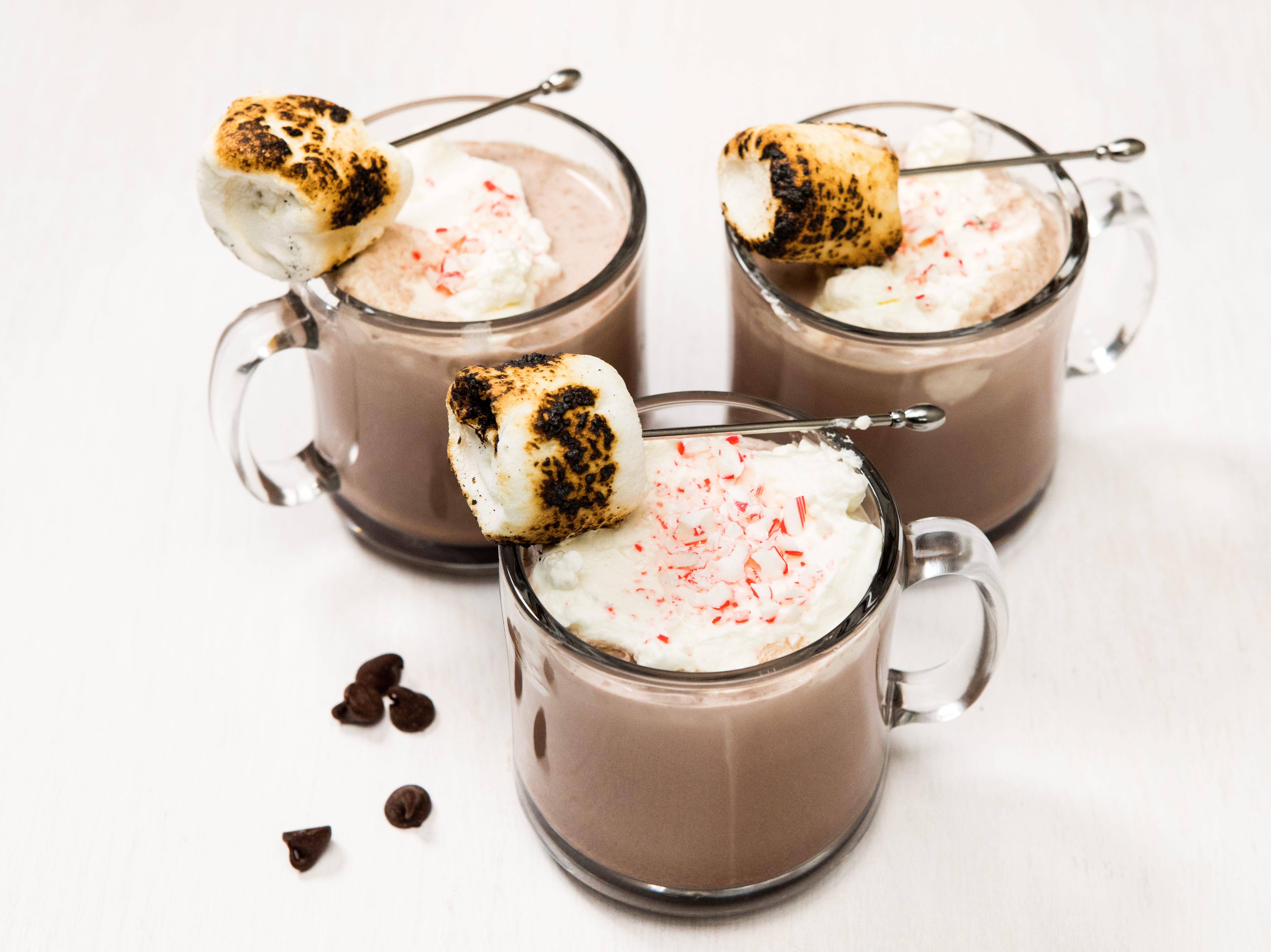 boozy marshmallow hot chocolate