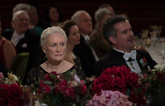 "This image released by Sony Pictures Classics shows Glenn Close in a scene from ""The Wife.""  On Thursday, Dec. 6, 2018, Close was nominated for a Golden Globe award for lead actress in a motion picture drama for her role in the film. The 76th Golden Globe Awards will be held on Sunday, Jan. 6. (Graeme Hunter/Sony Pictures Classics via AP) ORG XMIT: NYET823"