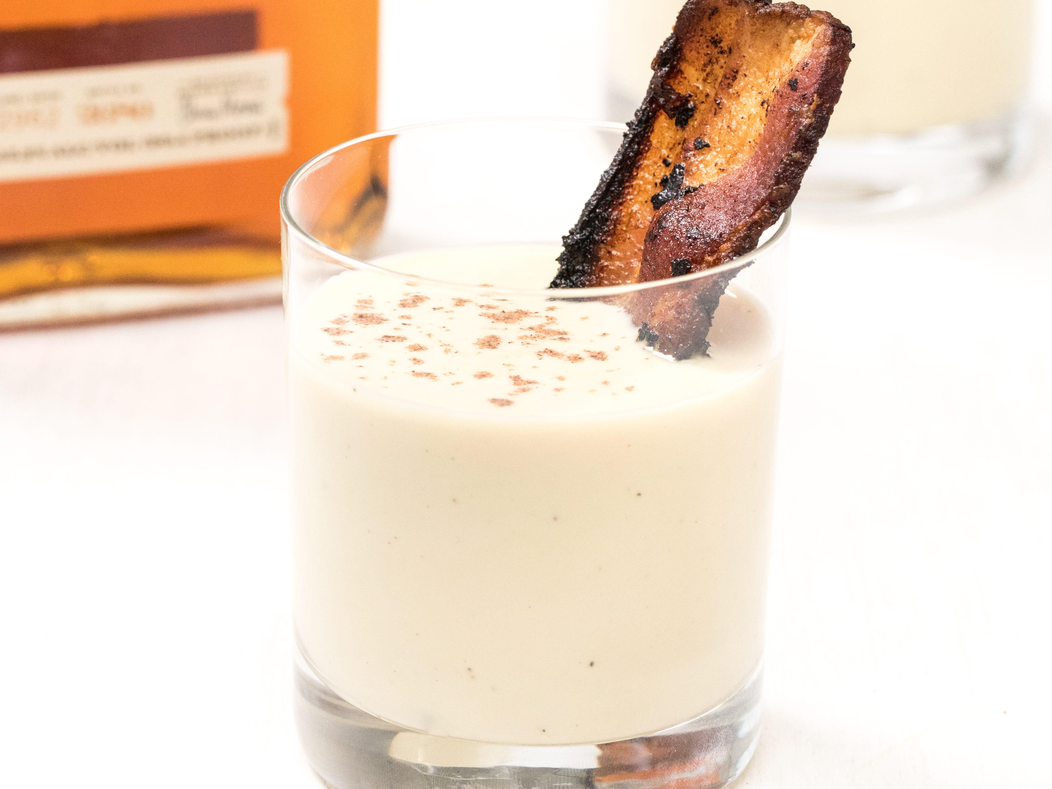 simple maple bourbon bacon eggnog