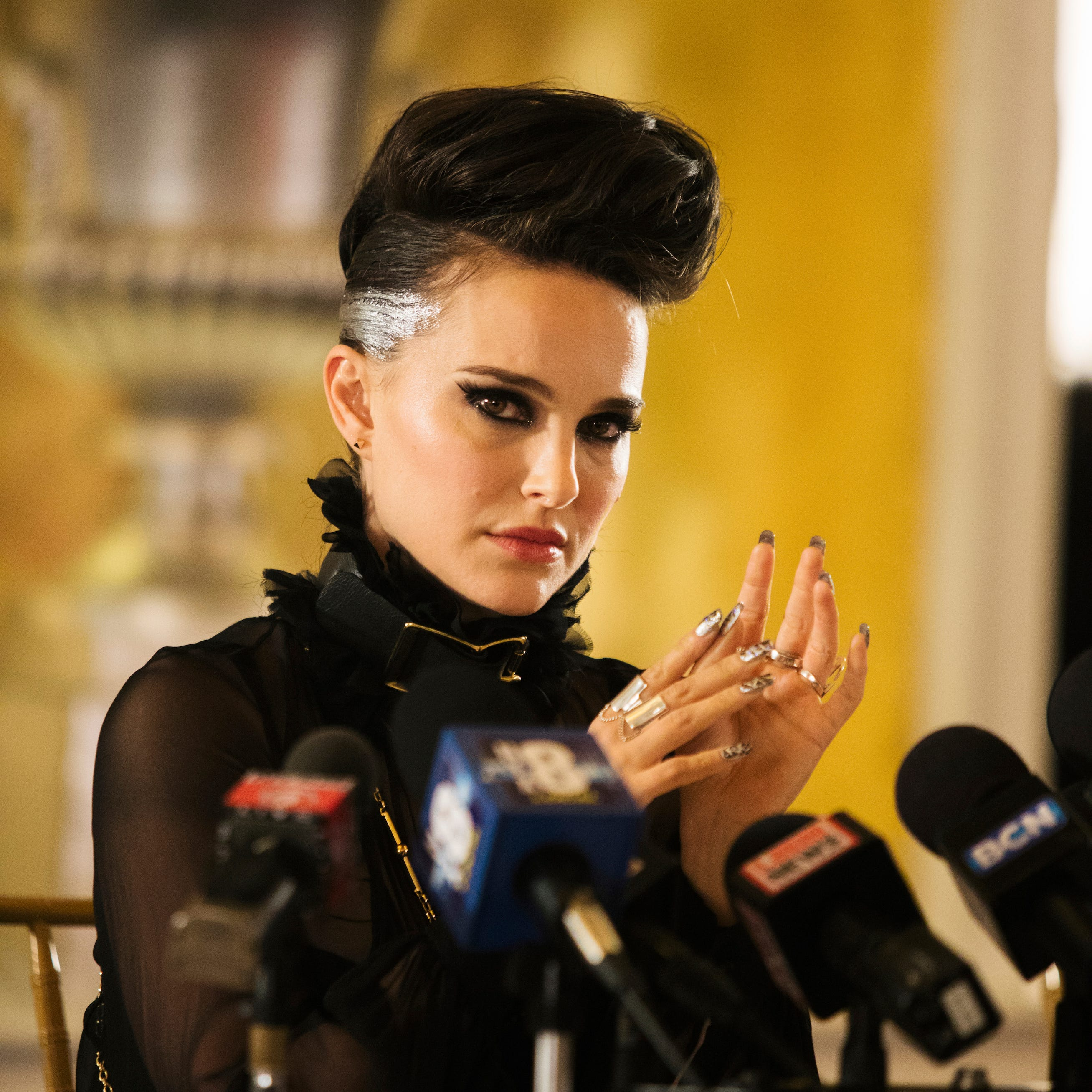 "This image released by Neon shows Natalie Portman in a scene from ""Vox Lux."" (Neon via AP) ORG XMIT: NYET817"