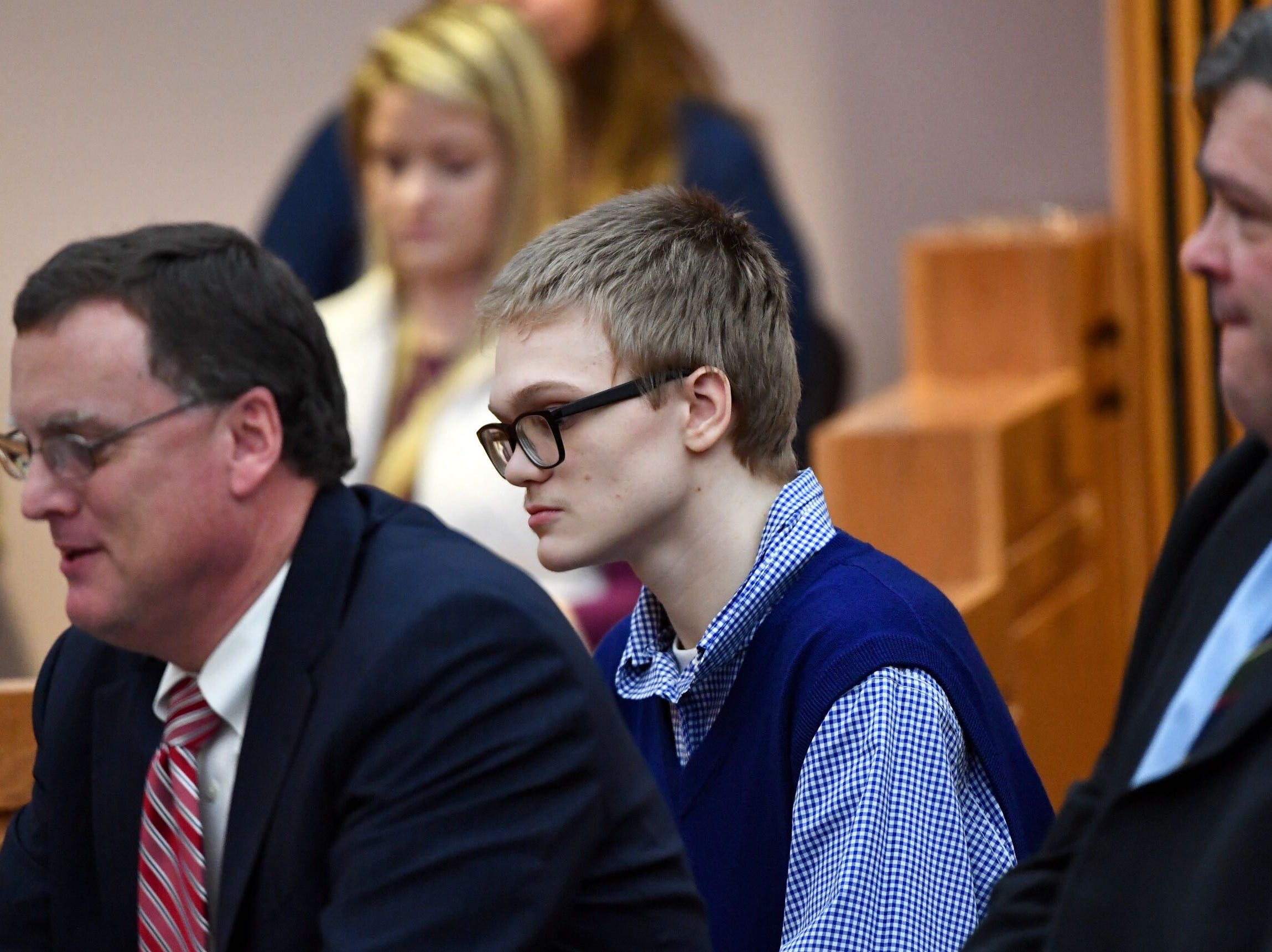 Jesse Osborne, the teen accused in the September 2016 shooting at Townville Elementary School, appears in court on Wednesday, Dec. 12, 2018.