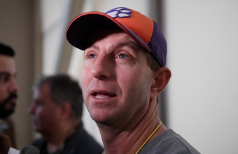 Dabo Swinney is taking advantage of plane time