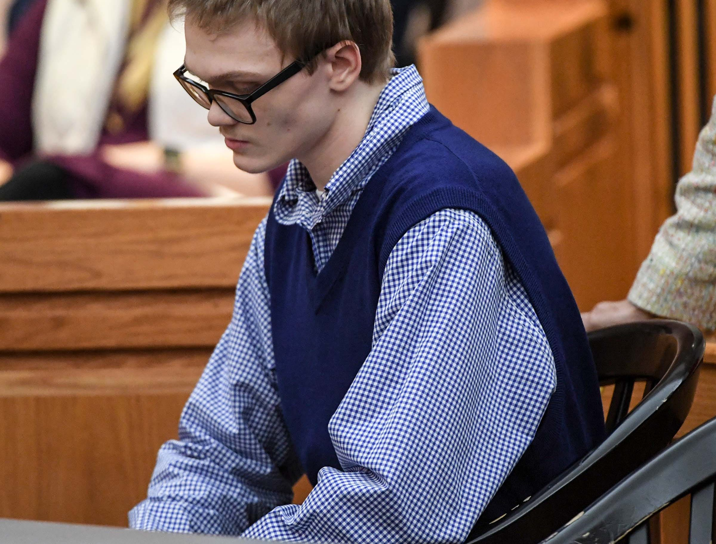 Jesse Osborne during the hearing for him in the Anderson County Courthouse Wednesday, December 12, 2018.