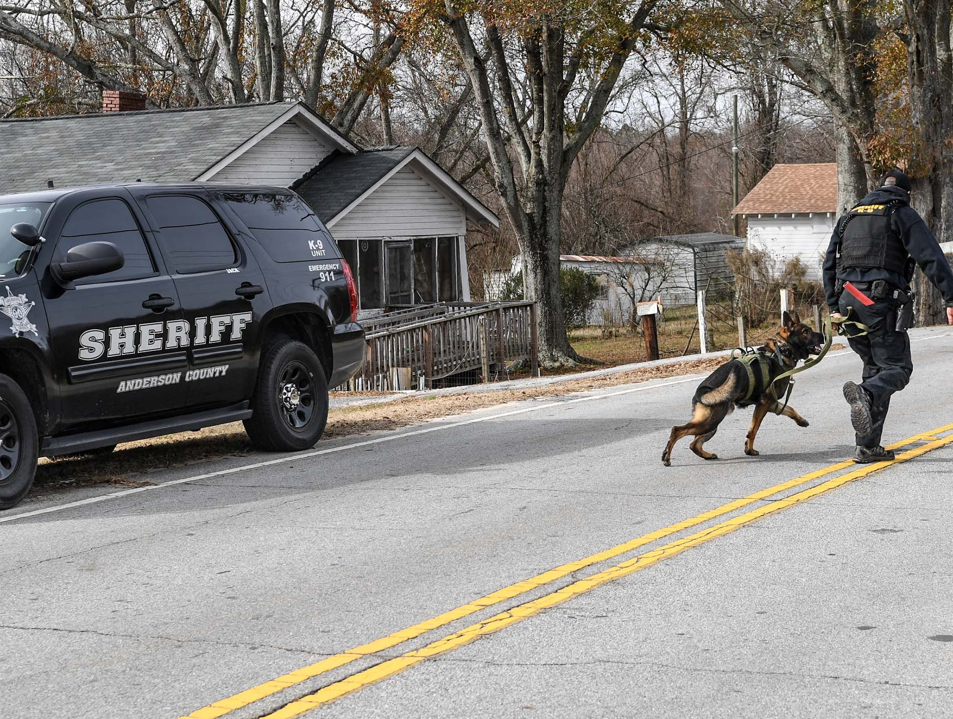 Anderson County Sheriff Deputies responded to Brazeale Street in Belton after a report that a man struck an officer serving a warrant at a house Wednesday, December 12, 2018.
