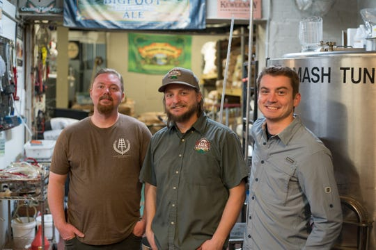 Brewers collaborated on a beer to benefit victims of California's Camp Fire. From left, Shane Butner, McFleshman's Brewing Co.; Josh Green, Stone Arch Brewpub and Ben Fogle, Appleton Beer Factory.