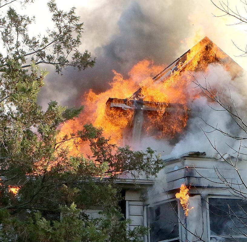 Red Bank fire: Owner of home set ablaze by portable heater cited for illegal work