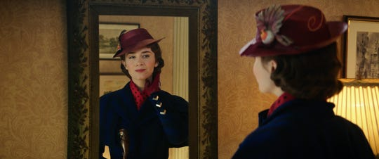 """Mary Poppins (Emily Blunt) returns to the Banks' home in Disney's original musical """"Mary Poppins Returns,"""" a sequel to the 1964 """"Mary Poppins""""  which takes audiences on an entirely new adventure with the practically perfect nanny and the Banks family."""