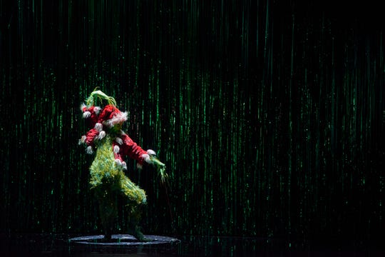 """Gavin Lee stars as the Grinch in """"Dr. Seuss' How The Grinch Stole Christmas! The Musical."""""""