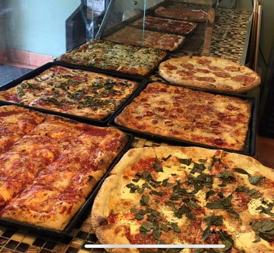An assortment of pizzas at Brooklyn Square Pizza in Toms River.