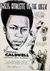 Norman Caldwell, who played at the now-defunct Croydon Hall Academy in Middletown, is the all-time leading scorer at the Jersey Shore, with 2,302 points.
