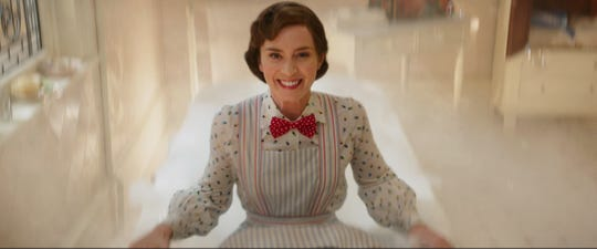 """Emily Blunt is Mary Poppins in Disney's """"Mary Poppins Returns,"""" a sequel to the 1964 """"Mary Poppins,"""" which takes audiences on an entirely new adventure with the practically perfect nanny and the Banks family."""