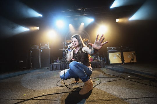 Mina Caputo of Life of Agony performs at Starland Ballroom on Sept. 13, 2014 in Sayreville.