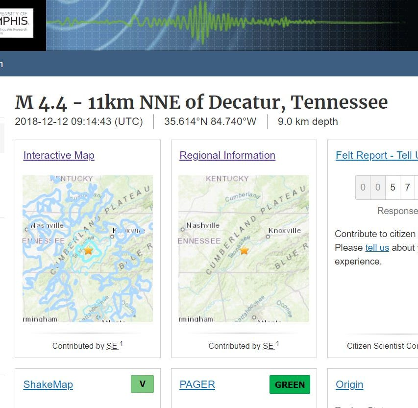 Earthquake in Eastern Tennessee felt in Asheville, Atlanta