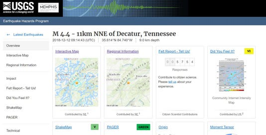 Earthquake Page