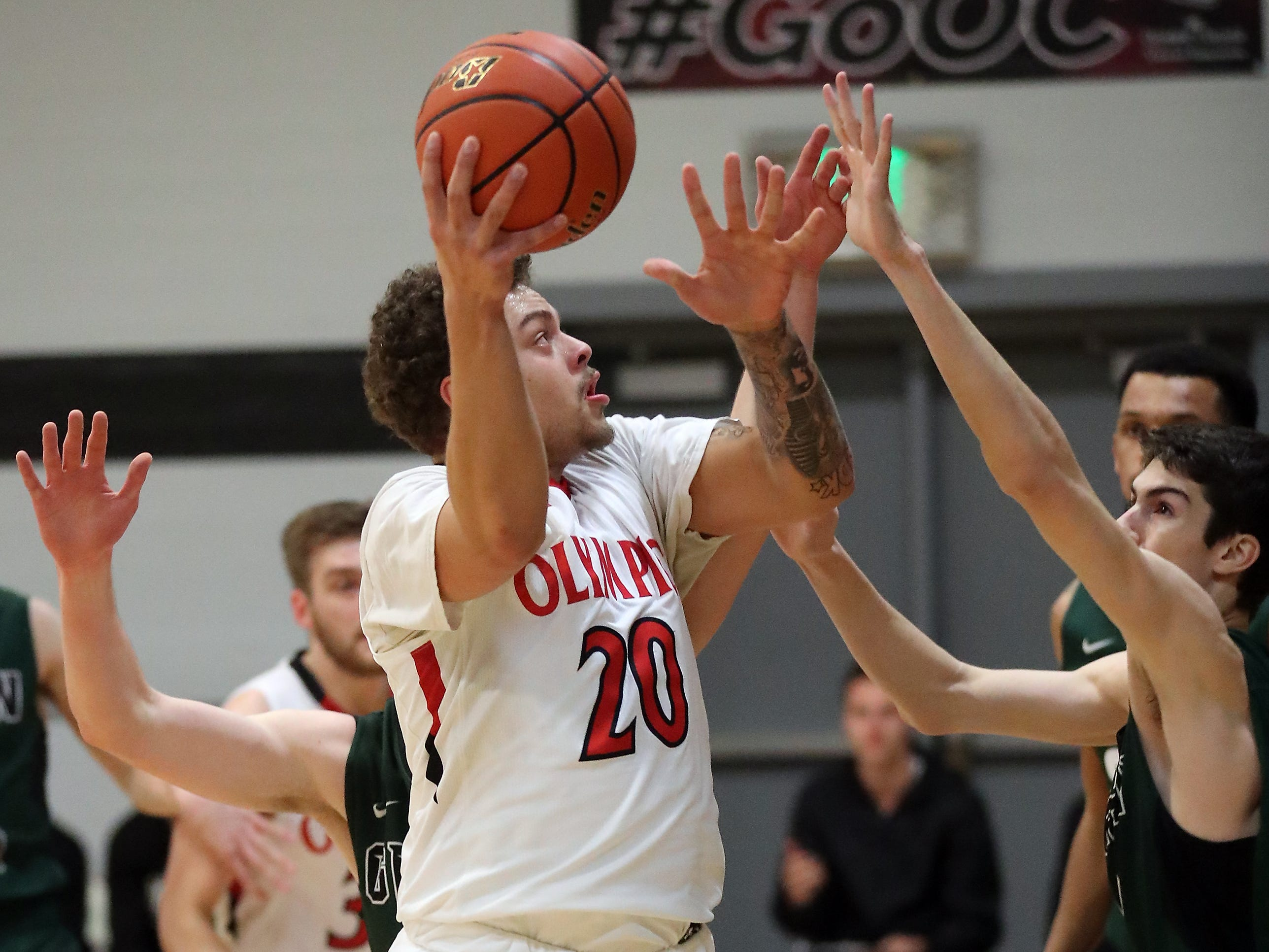 Olympic College Rangers vs Green River Gators at Olympic College in Bremerton on Tuesday, December 11, 2018.