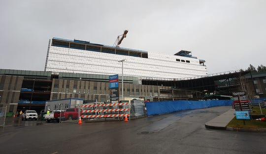 "Interior work at the new Harrison hospital in Silverdale is reportedly being ""deferred."""